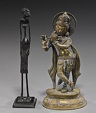 Two Various Bronze Standing Figures