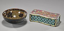 2 Chinese Ceramics: Bowl & Scholar's Object