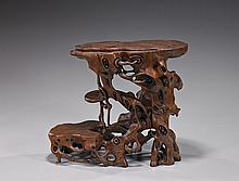 Unusual Chinese Naturalistic Rootwood Stand