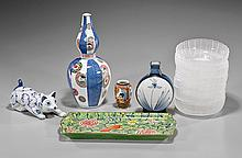 Group of Twelve Decorative Porcelain & Glass Items