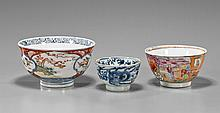 Three Antique Chinese Porcelain Bowls