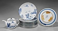 Japanese Porcelain Dishes: Coastal Landscape