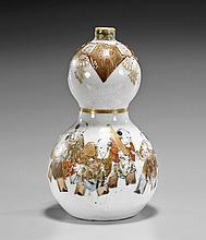 Small Satsuma Porcelain Double Gourd Vase