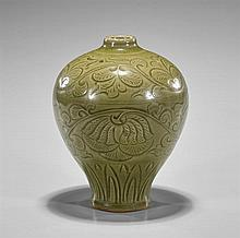 Song-Style Celadon Glazed Meiping Vase