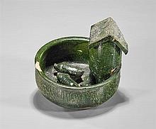 Ming Dynasty Green Glazed Pig Pen