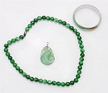 Three Jade/Hardstone Jewelries