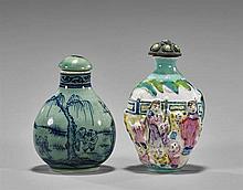 Two Porcelain Snuff Bottles