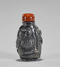 Carved Hematite Snuff Bottle