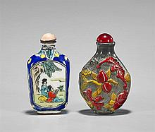 Two Snuff Bottles: Beauties & Birds