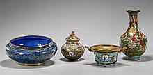 Four Chinese Cloisonné Enamels