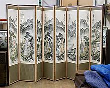Chinese 8-Panel Paper Screen: Immortals