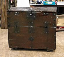 Large Korean Carved Wood Chest