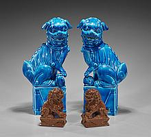 Two Pair of Chinese Guardian Lions