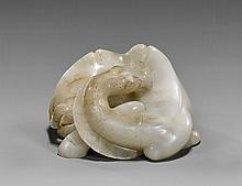 Chinese Carved White Jade Bactrian Camel