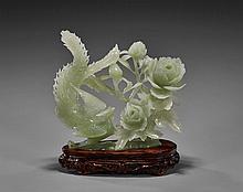 Chinese Carved Bowenite Phoenix