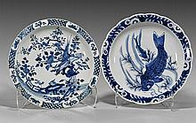 Pair Chinese Blue & White Porcelain Chargers