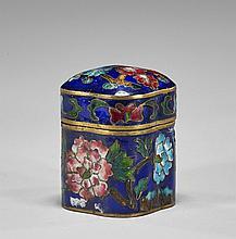 Three Small Chinese Items: Box, Vase & Dropper