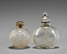 Two Carved Rock Crystal Snuff Bottles