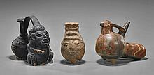 Three Pre-Columbian Moulded Vessels