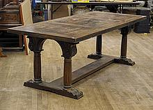 Large Carved Wood Dining Table