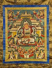 Sino-Tibetan Painted Thangka: Bodhisattva