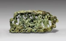 CARVED JADE GROUP: Eight Immortals