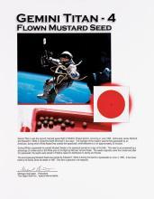 GEMINI 4, 1965, FLOWN SPACEWALK MUSTARD SEED