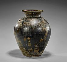 Antique Southeast Asian Glazed Pottery Jar