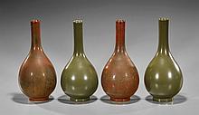 Two Pair Chinese Glazed Bottles Vases