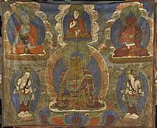 Large Sino-Tibetan Painted Thangka