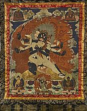 Sino-Tibetan Painted Thangka: Vajrapani