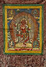 Sino-Tibetan Painted Thangka: Kurukulle