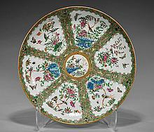 Antique Chinese Rose Medallion Charger