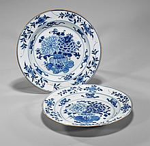 Pair Antique Chinese Blue & White Plates