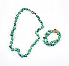 Turquoise Nugget Necklace & Bracelet