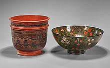 Two Gilt & Lacquered Bowls