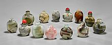 Collection of Thirteen Snuff Bottles