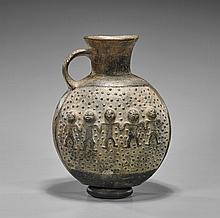 Pre-Columbian Chimu Blackware Jug