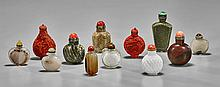 Collection of Twelve Snuff Bottles