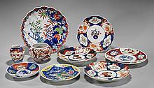 Nine Antique Japanese Porcelain Dishes
