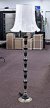 Tall Brass & Stone Floor Lamp