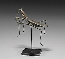 ANTIQUE COPPER OKIMONO: Praying Mantis