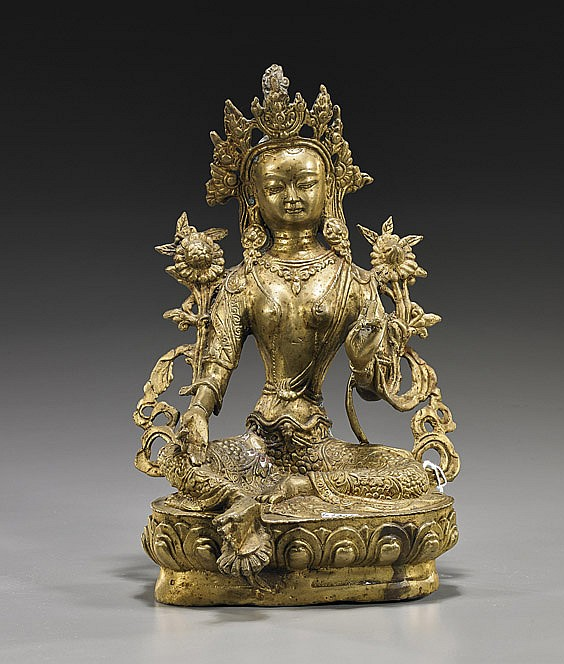 Nepalese Bronze Seated Deity