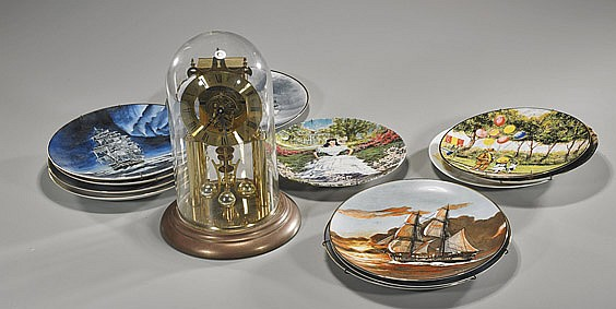 Group of Collector's Plates & Mantle Clock