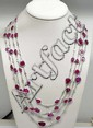 Unusual 18K, Carved Ruby & Diamond Necklace