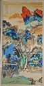 Large Chinese Paper Landscape Scroll