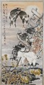 Chinese Paper Scroll: Heron Group