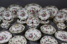 VERY FINE ENGLISH CHINA LARGE SET F. WINKLER & CO.
