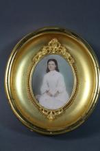ANTIQUE COLOR PHOTOGRAPH IN FINE GILT FRAME