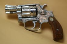 SMITH & WESSON ENGRAVED .38 SPECIAL